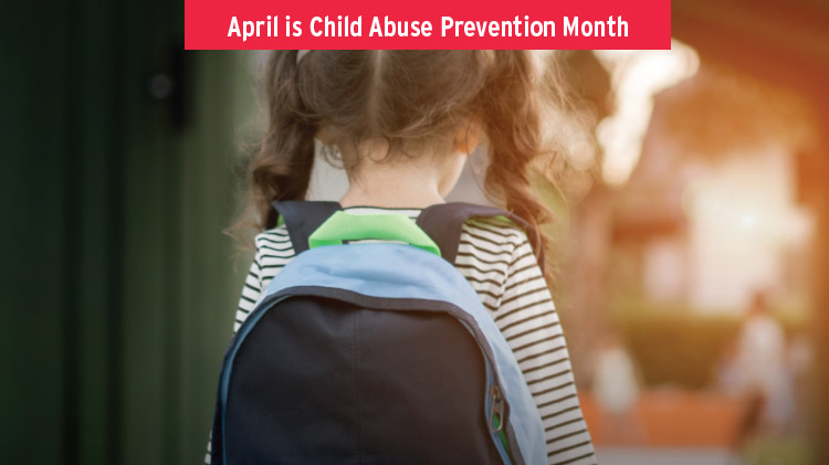 Child Abuse Prevention Month Info Table with Giveaways
