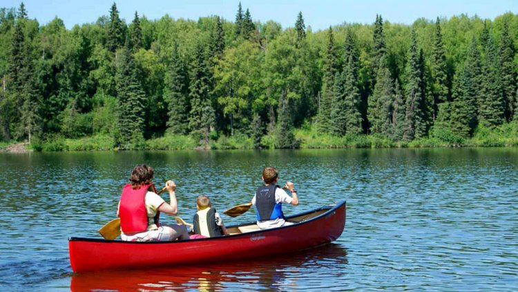 Family Canoe Day on the Naab