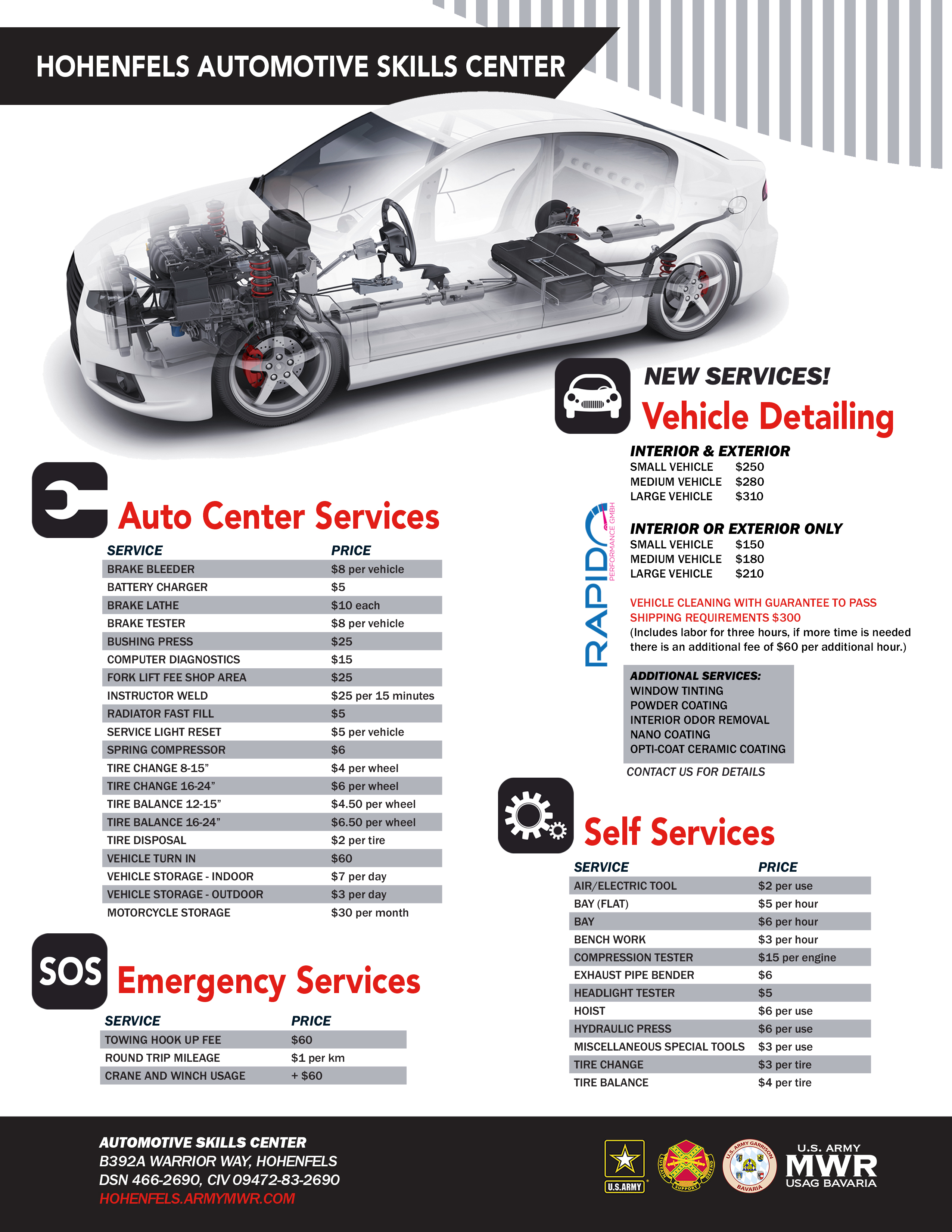 US Army MWR Automotive Skills Center